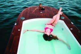 Hot tub boat on Lake Union