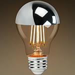 led silver bowl bulb