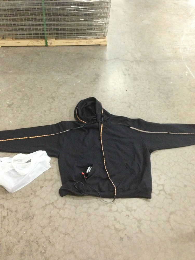 sweat shirt with cables connected