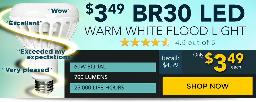 Kobi LED R30 for $3.49!