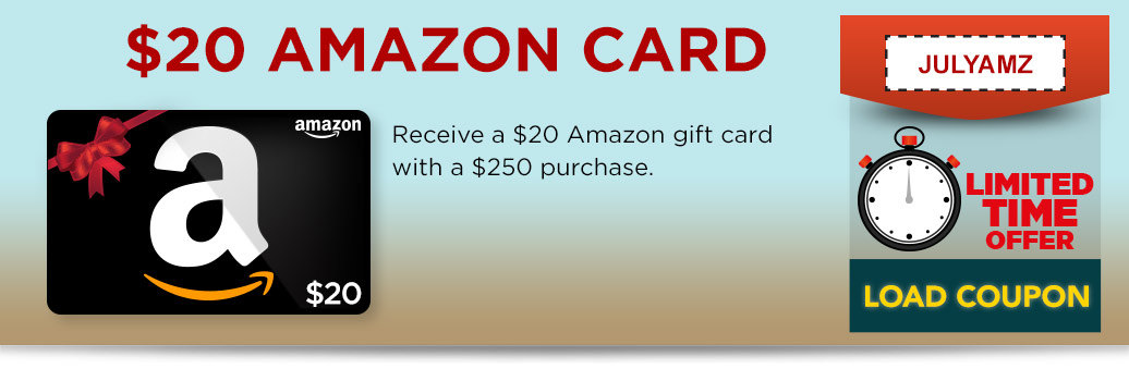Daily Deal #2 - $20 Amazon gift card with a $250 purchase
