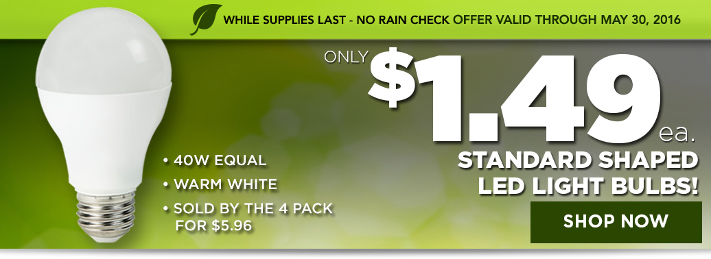 $1.49 Standard Shaped LED