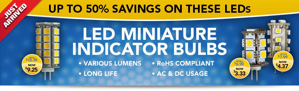LED Miniature Indicator Bulbs