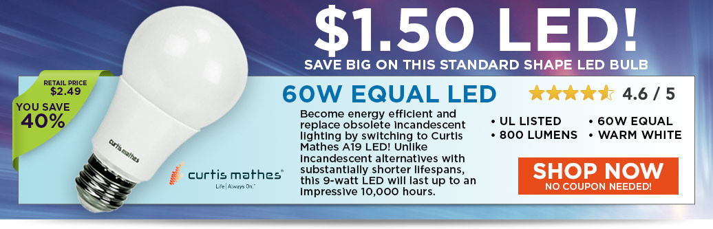 LED 60W EQ A19 for $1.50