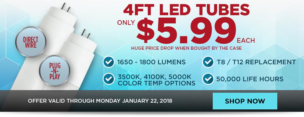 LED Tubes for $5.99