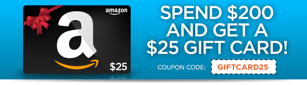 $25 Amazon Gift Card with $200 Purchase