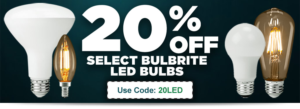 20% Off Select Items from Bulbrite