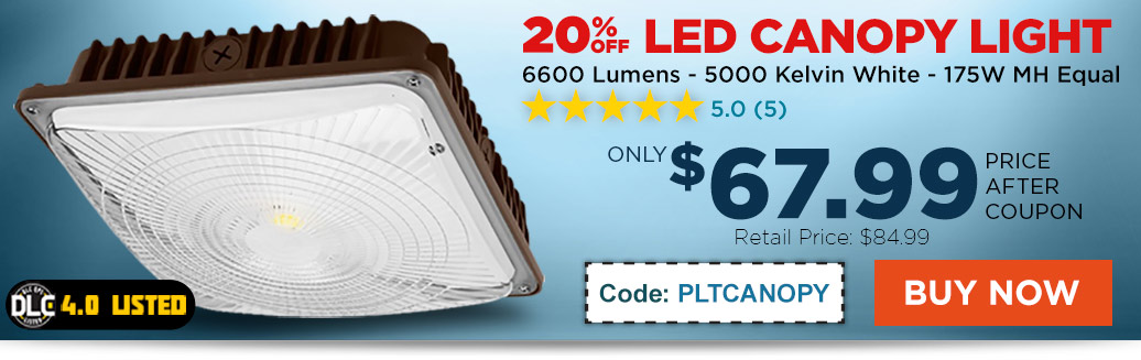 20% Off LED Canopy Light