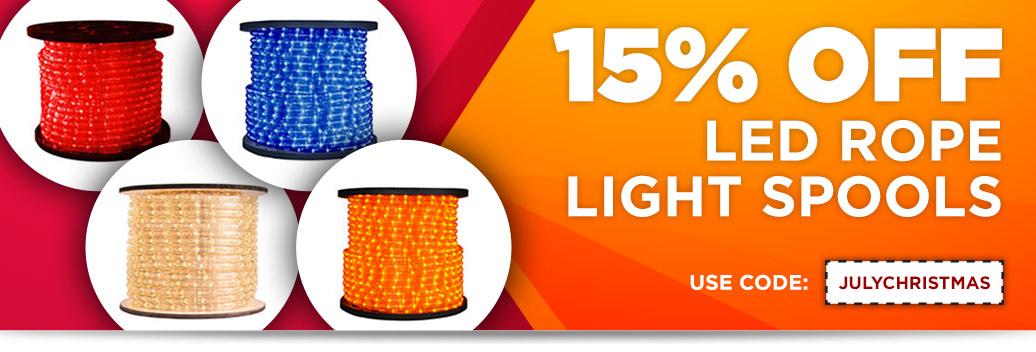 15% Off LED Rope Light Spools