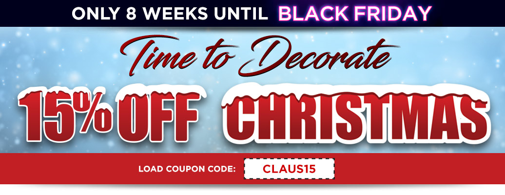 15% off Christmas with coupon