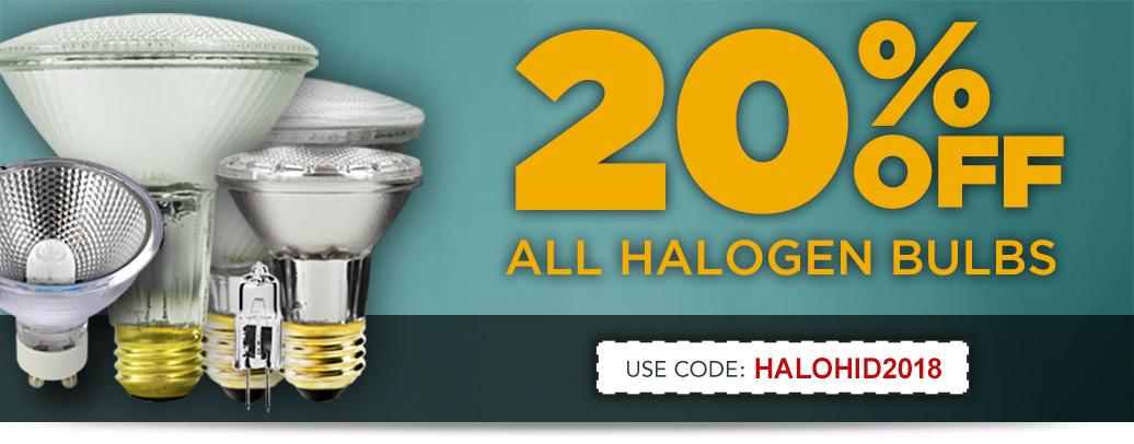20% Off Halogen Lighting