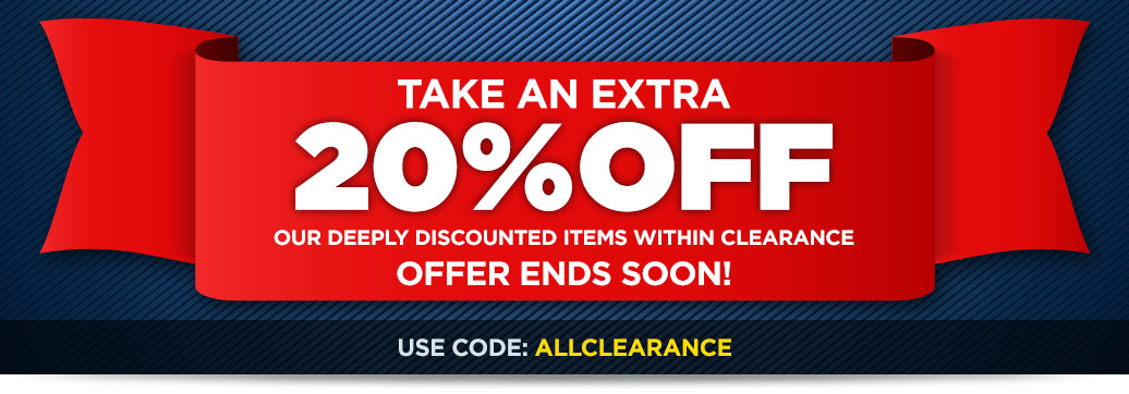 Take an Extra 20% off All Clearance