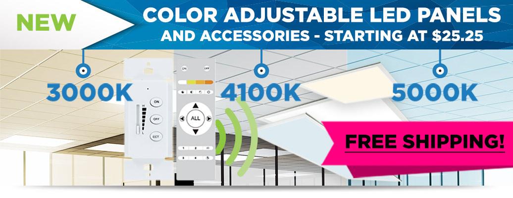 Color Adjustable LED Panels