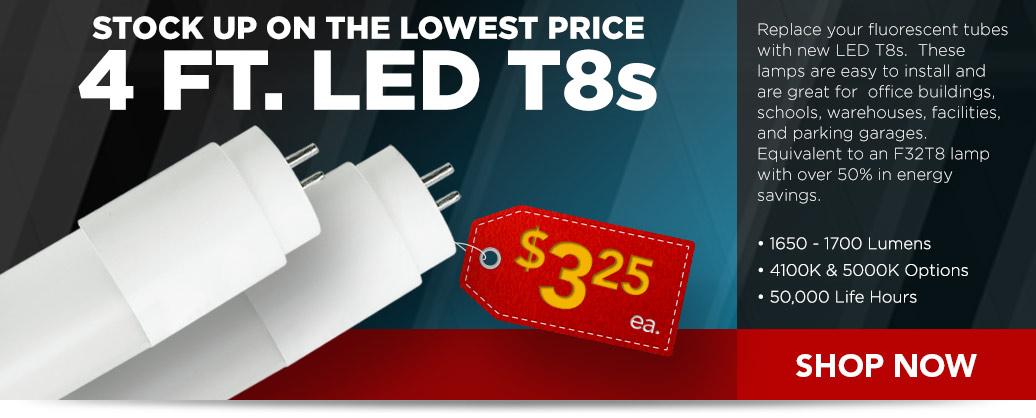 4 ft. LED T8 Tubes