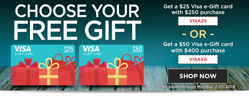 $25 or $50 Visa eGift Card with Purchase
