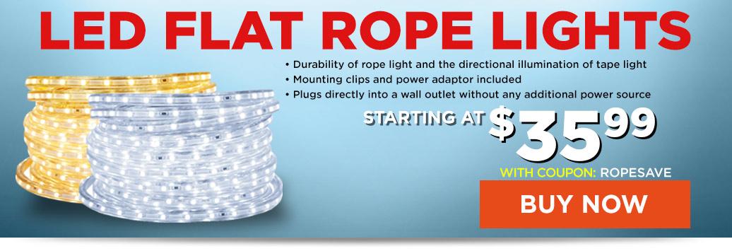 LED Flat Rope Lights