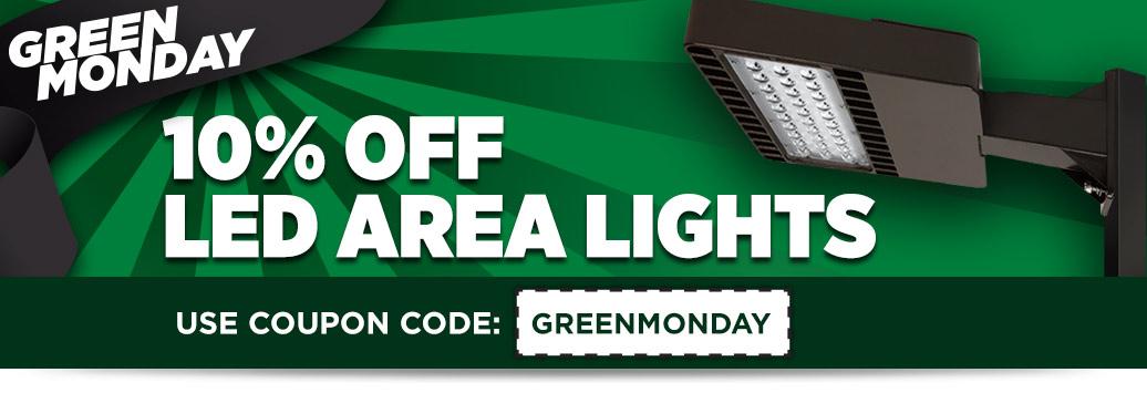 10% off LED Area Lights