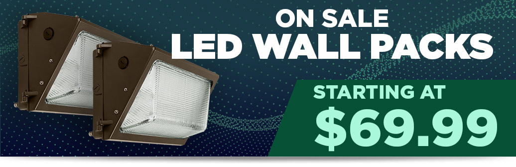 LED wall packs from $69.99