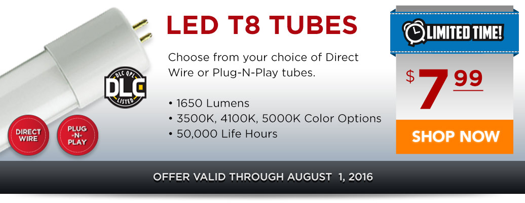 LED T8 Tubes for Only $7.99!