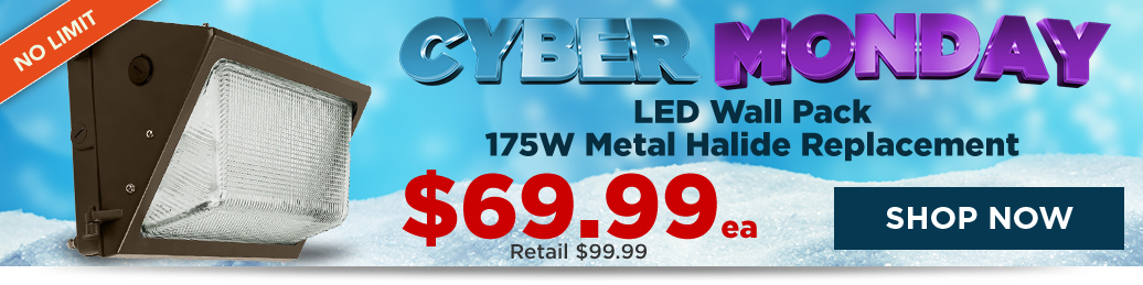 $69.99 LED Wall Pack - 175W