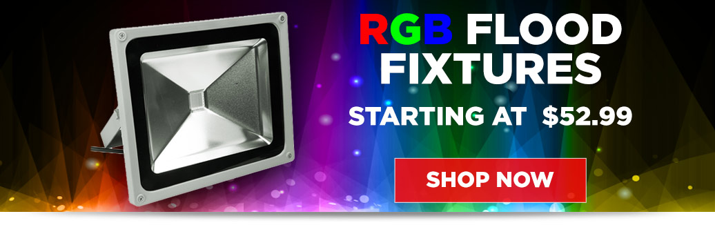 RGB Flood Fixtures from $52.99