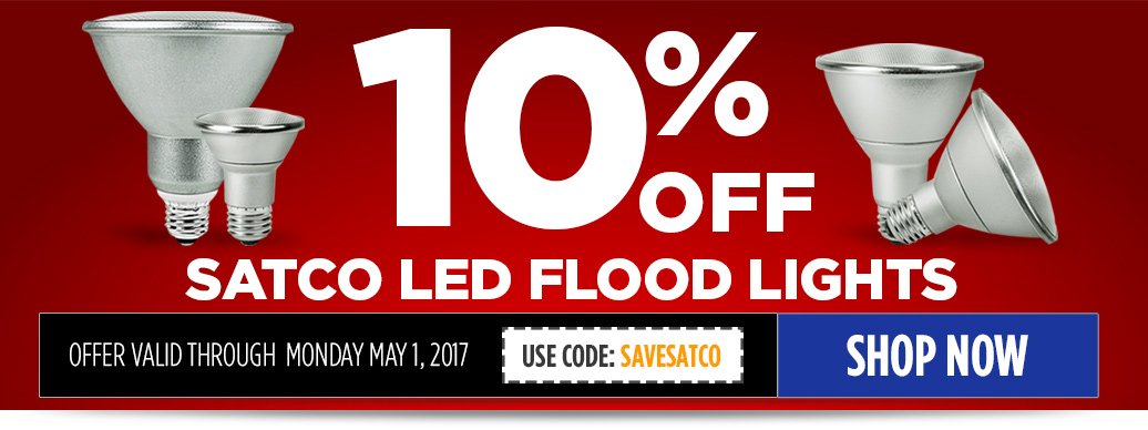 10% Off Satco LED PARs