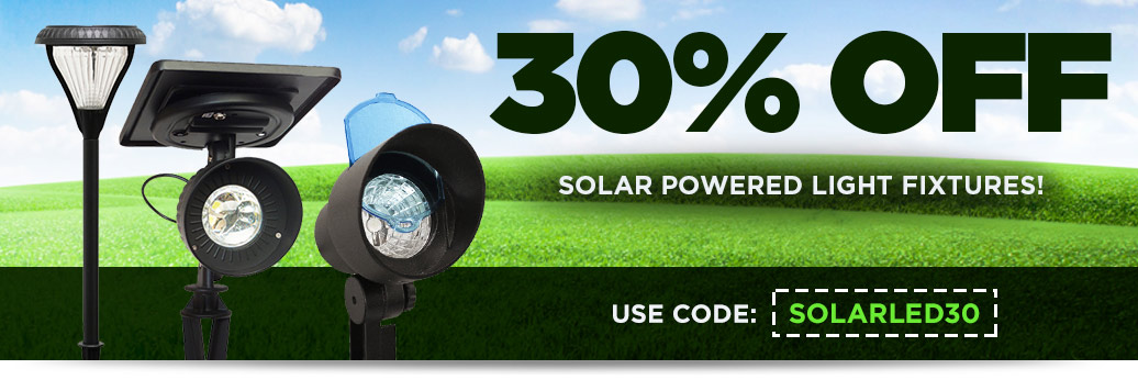 30% Off Solar Powered Light Fixtures