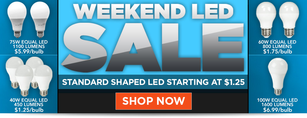 Standard Shaped LEDs Starting at $1.25