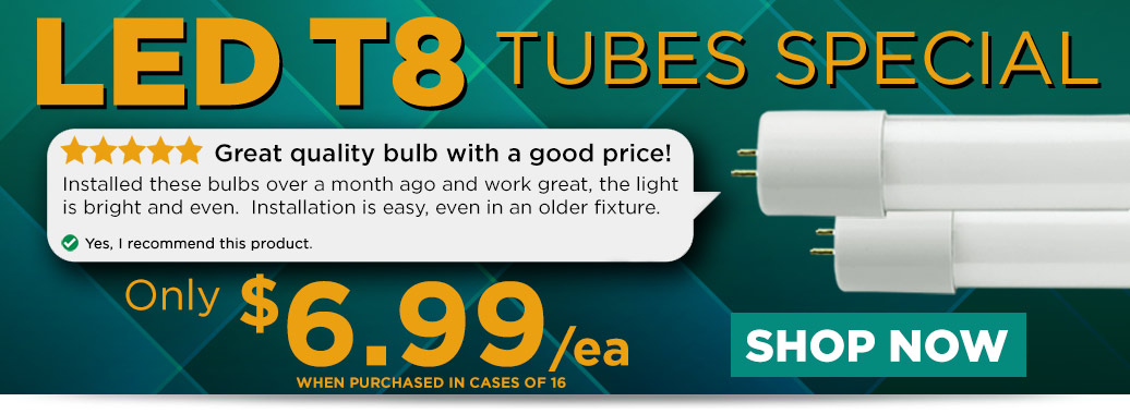LED T8 Tubes for $6.99/ea