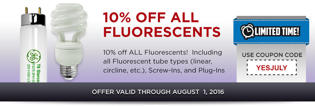 10% off All Fluorescents