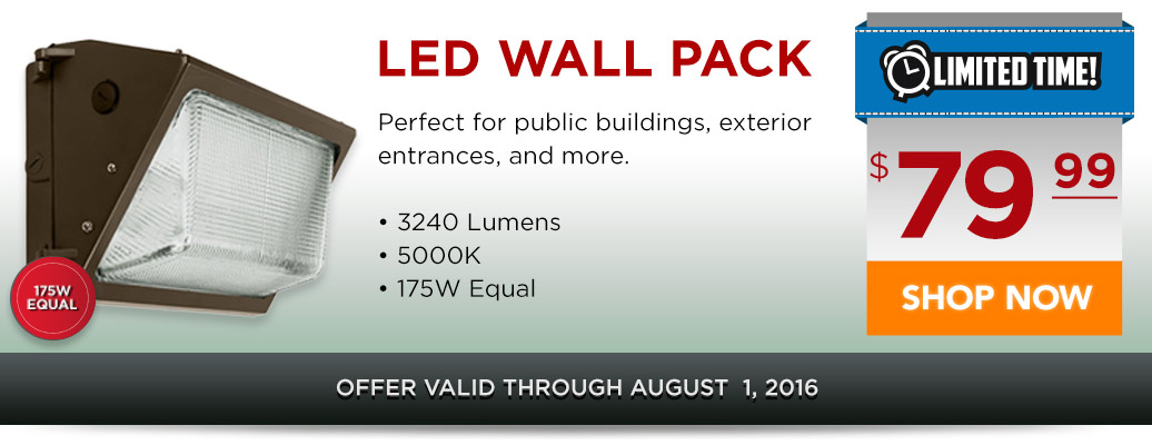 LED Wall Pack for $79.99!