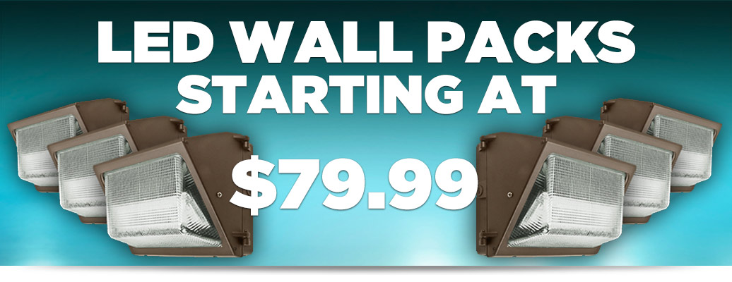 LED Wall Packs from $79.99