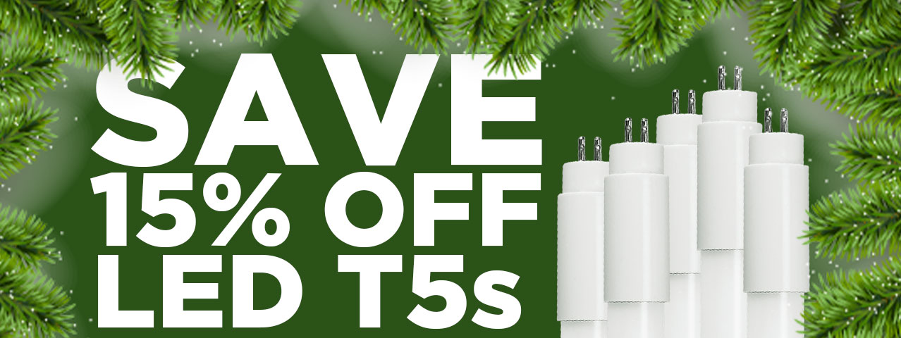 15% OFF T5 LED Tube Lights