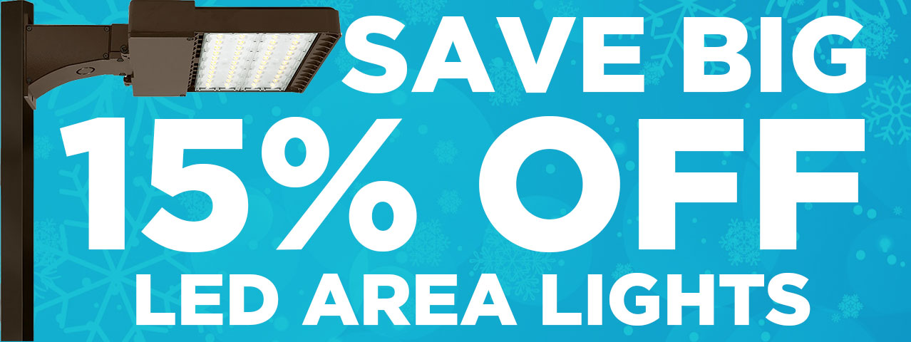 15% Off LED Area Lights