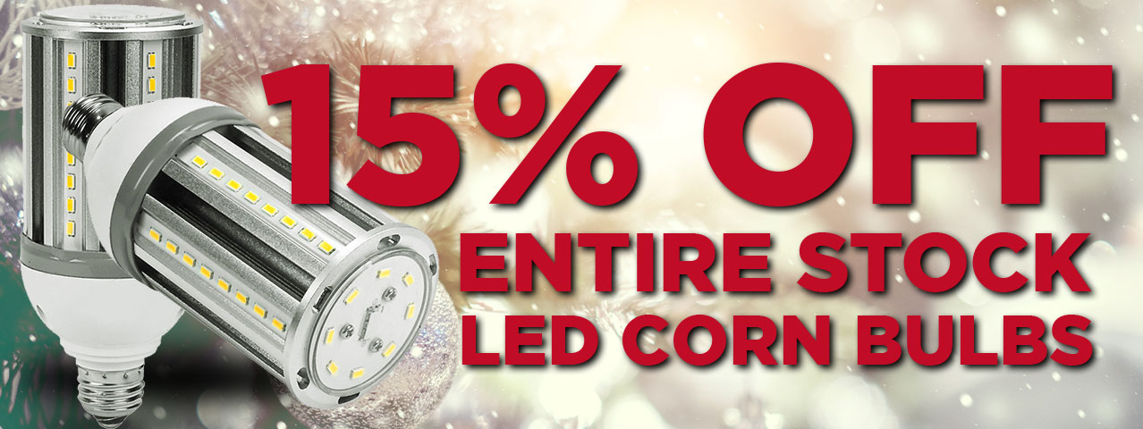 15% Off LED Corn Lamps