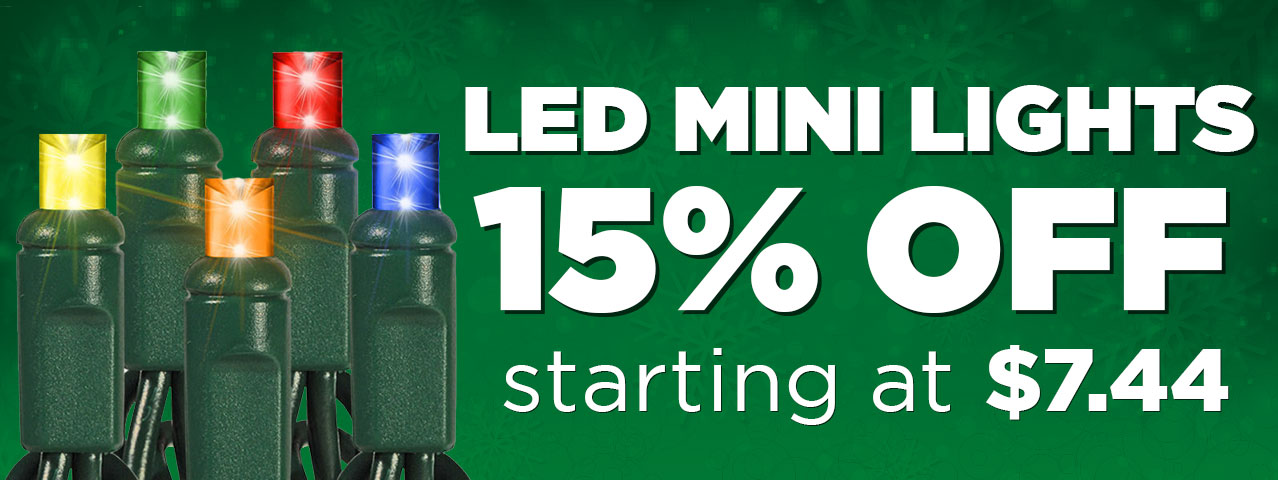 15% Off LED Mini Light Stringer