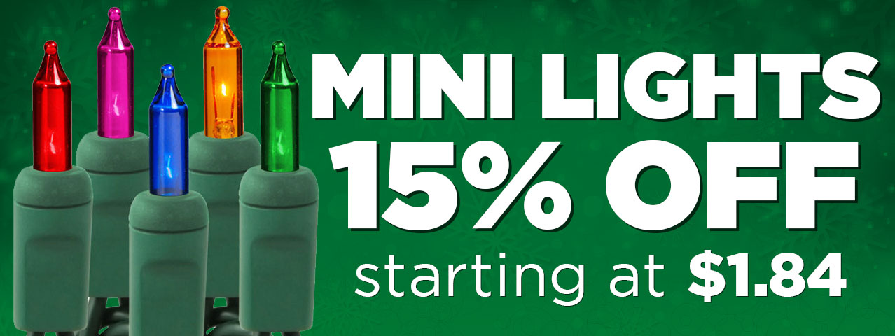 15% Off Incandescent Mini Light Stringers