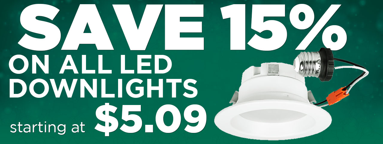 15% off entire stock LED Downlights