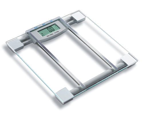 HUTT SlimFit Premium 6 in 1 BMI Scale w/ Large LCD, Step-On Technology, 4-Point Pressure & 330 lbs. Capacity!