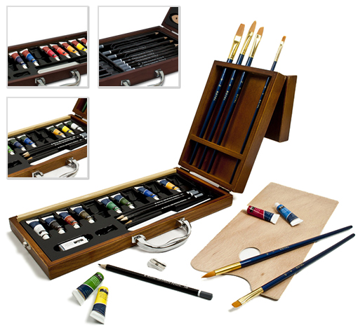 Royal & Langnickel Premier Art Sets – Choice of Sketch Set, Watercolor Set, Acrylic Set or Oil Set! for $22.99