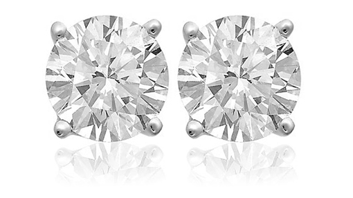 2 Carat White Topaz Sterling Silver Stud Earrings! for $5.00