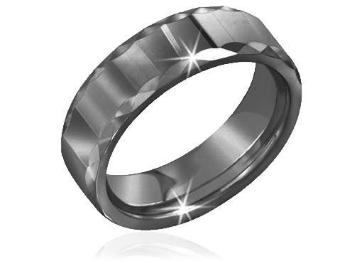 Tungsten Facet Ring