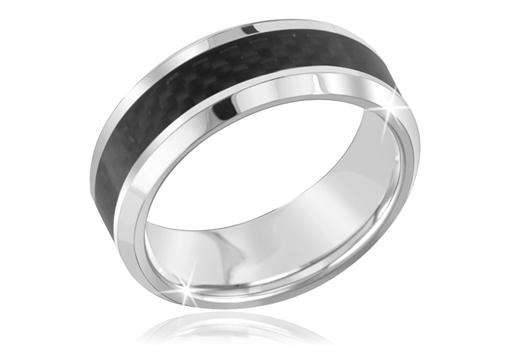 Tungsten Black Ring