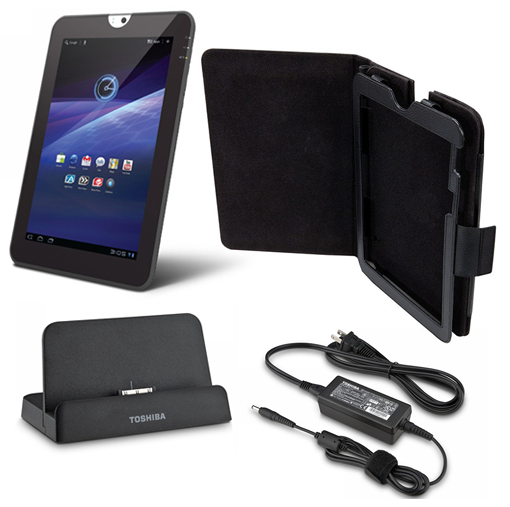 Toshiba Thrive 10.1″ Tablet with Ultimate Accessory Bundle – Carrying Case, HDMI Dock, and AC Adapter! for $229.99