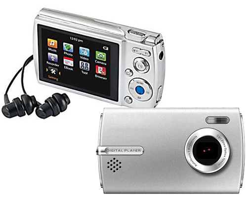 Digital Camera and Multimedia Player with 2.4″ LCD Display, 4GB Memory, and Rechargeable Battery! for $19.99