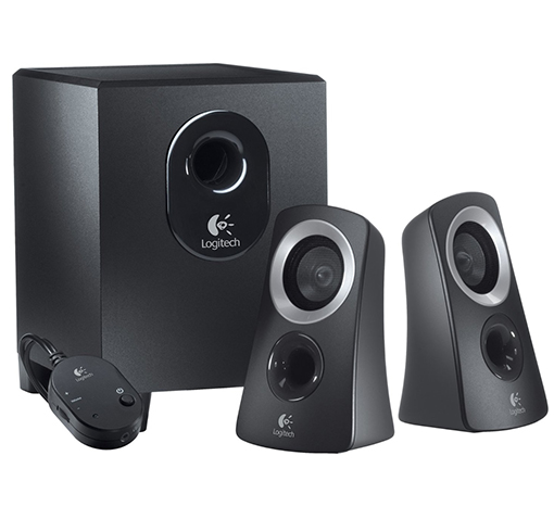 Logitech 2.1 Channel Multimedia Speaker System w/ 25 Watts (RMS), High Excursion Subwoofer & Headphone Jack! for $19.99