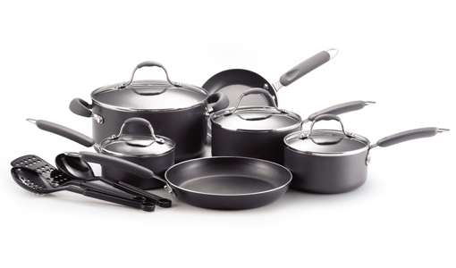 Farberware 13-Piece Cookware Set with Cool Touch Handles, Non-Stick Interior and Dishwasher Safe! for $59.99