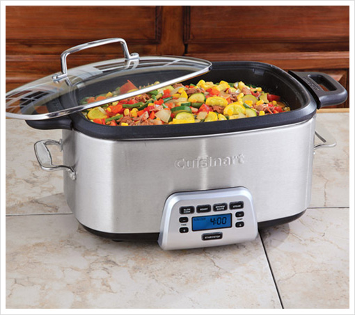 Cuisinart Cook Central Multi-Function Cooker with Removable 7 Qt. Nonstick Cast Aluminum Cooking Pot!