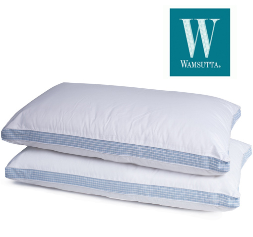 2-Pack: Wamsutta Comfort Side Sleeper Pillows with Hypoallergenic Polyester Fill - 100% Cotton!