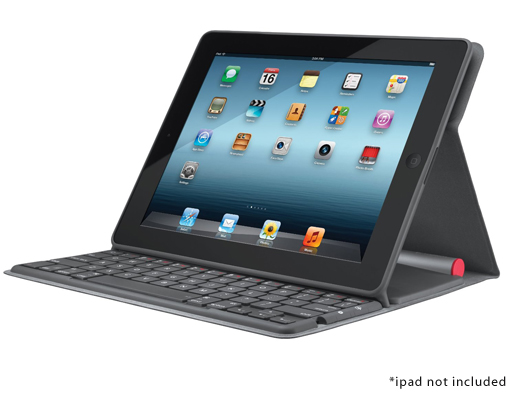 Logitech Solar Keyboard Folio for iPad 2/3 Cover & Stand w/ Solar Powered Bluetooth Keyboard & Instant On/Off!